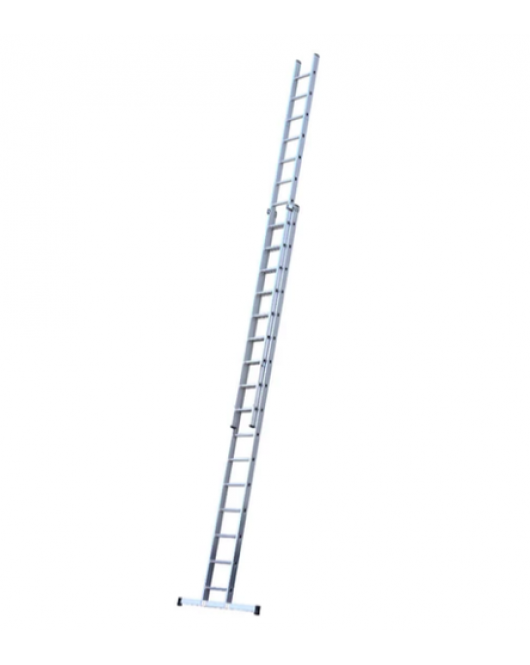 14 by 2 Double Section Extension Aluminium Ladder 28feet