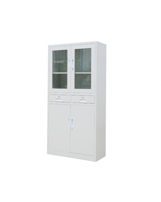 Modern Medical Steel Cabinet Office Furniture With Glass Door JF-C17