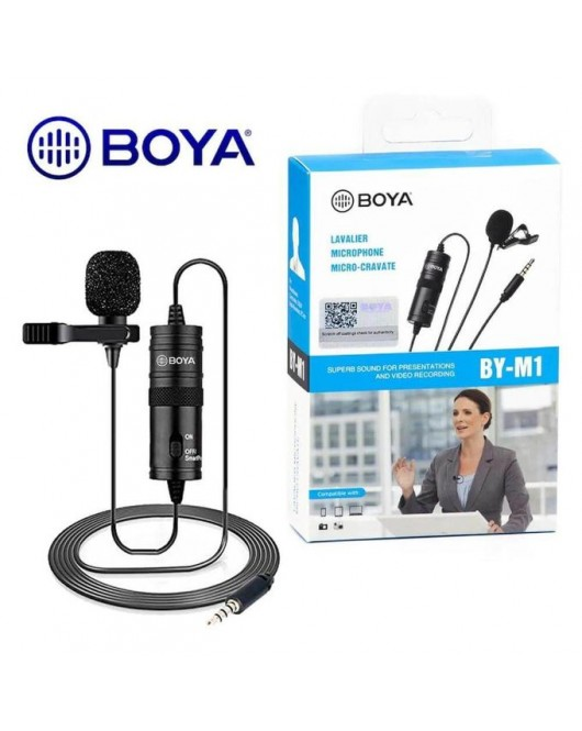 Boya Clip On Microphone For Dslr Camera Smartphone Video BY-M1