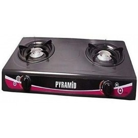 DOUBLE BURNER TABLE TOP GAS COOKER -PYRAMID