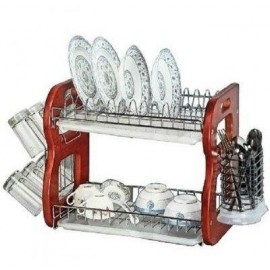 "22"" Dish Drainer Utensils And Glass Holder"
