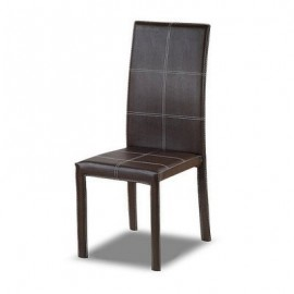 Best Dining Chair Leather-Dark Brown Emel