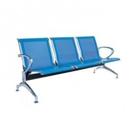 3-Seater Reception Waiting Chair-Blue