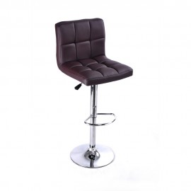 Bar Stool With Revolvable And Adjustable Height-Mahogany
