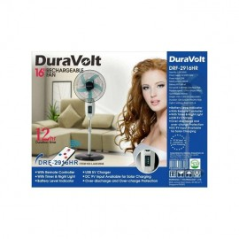 """16"""" Rechargeable Fan With Remote -Duravolt"""