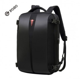 """15.6"""" Water Resistant Laptop Backpack with lock -Poso"""