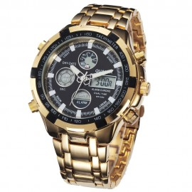 165 Quartz Sport Muti-Functional Gold Wrist Watch -QUAMER