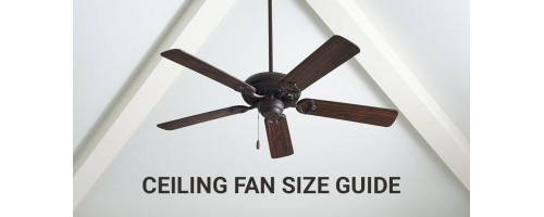 How to choose ceiling fan size for your room