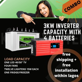 3kw Inverter Combo with 4 batteries