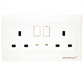 13 Amp Double Switched Socket -Goodman