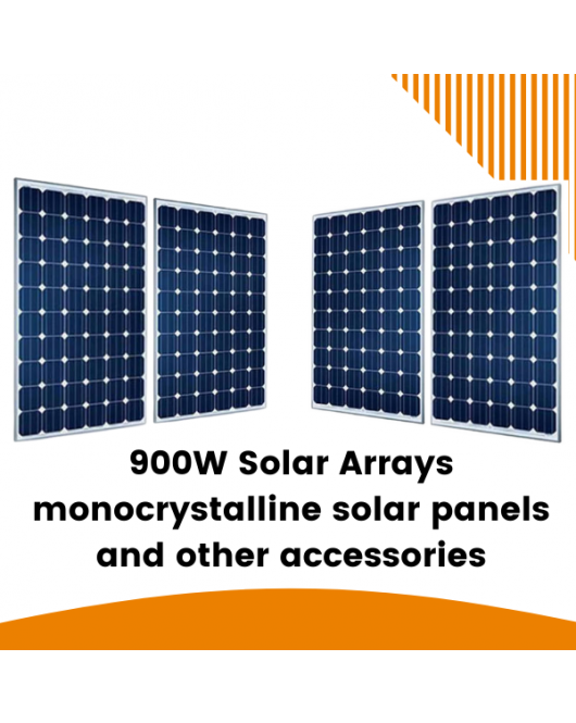 6KW Solar Arrays with installation for 16 Batteries Capacity